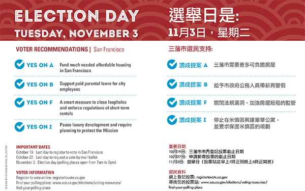 san francisco voter recommendations for november 3 aacre rh aacre org san francisco voter guide democratic party san francisco mayor voter guide